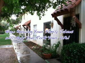 A Quick House Update and How Knowing Your Family Values Will Help You Rock Your Life!